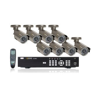 Q-See 8-channel Surveillence System 8 CCD Cameras w/ 40 Ft. Night Vision H.264 DVR w/ 500GB HDD Remotely Monitor via PC and 3G Smartphone QS408 + QSDS14273X8