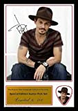 Johnny Depp Signed Photo and Matching Guitar Pick (Autograph & Plectrum Set)