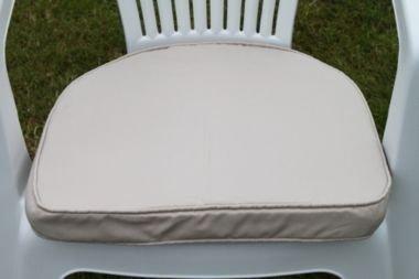 UK-Gardens Creme Beige Garten Möbel stuhl Polsterung Sitz Pad Rander Back – Ideal für Plastik Garten stuhl – Wechselbarer Bezug – Nutzung in Haus oder Garten günstig online kaufen