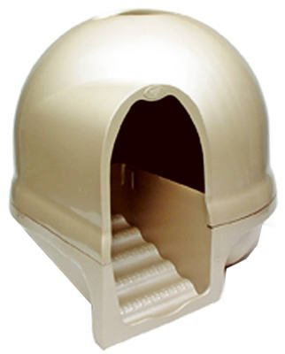 Booda Dome Step Cat Litter Box Titanium