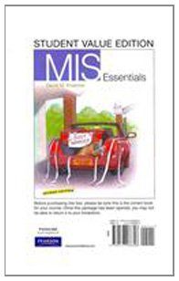 MIS Essentials, Student Value Edition (2nd Edition)