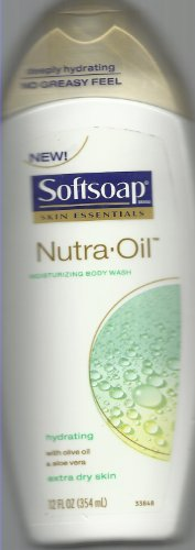 Softsoap Skin Essentials Nutra Oil Moisturizing/hydrating Body Wash with Olive Oil and Aloe Vera for Extra Dry Skin