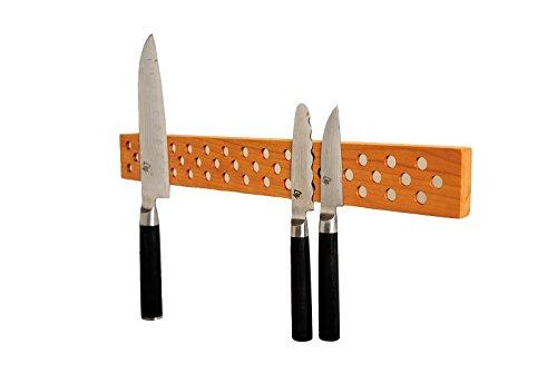 Magnetic Knife Holder Bar: 16 Inch Cherry, Danish Design Inspired