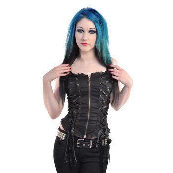 Spin Doctor by Hell Bunny Steampunk Corset Top (Black) - Large