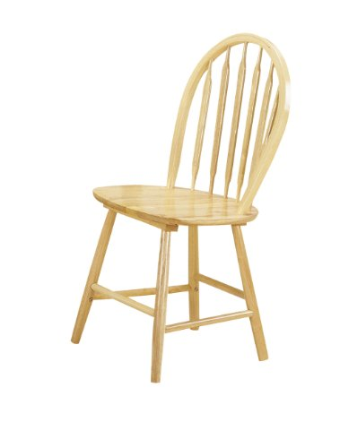 ACME 02482N Set of 4 Farmhouse Arrow Back Windsor Side Chair, Natural Finish (Windsor Side Chair compare prices)