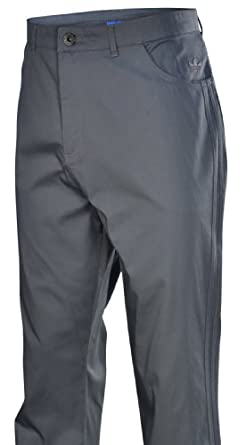 Adidas Originals Mens 3 Stripe Chino Pants-SharpGrey Black by adidas