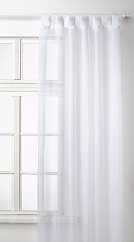 Transparente-einfarbige-Gardine-aus-Voile-viele-attraktive-Farben-245x140-Wei-61000