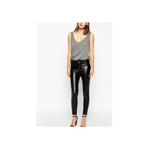 Dr Denim Faux Leather Skinny Jeans With Ankle Zips 並行輸入品