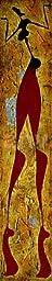 10W x 51H Farfalle di memoria I by Roberto Fantini - Stretched Canvas w/ BRUSHSTROKES