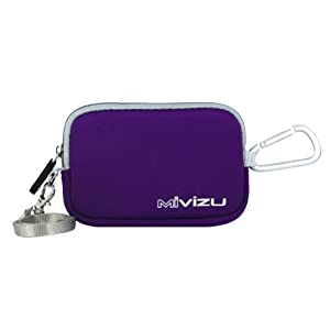 Purple Digital Camera Case Bag Cover Pouch for Nikon CoolPix S4150, S3300, S2600, S2550, S100