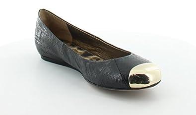 Sam Edelman Women's Jordie Ballet Flat,Black/White Gold,6.5 M US