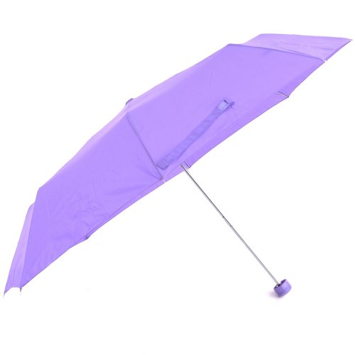 Ladies/Womens Plain Small/Mini Umbrella With Glitter Handle (One Size) (Lilac)
