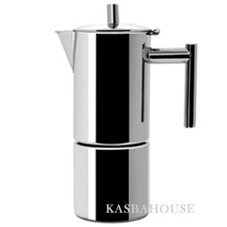 Altho Stainless Steel Stovetop Espresso Maker - 2 Cup Size