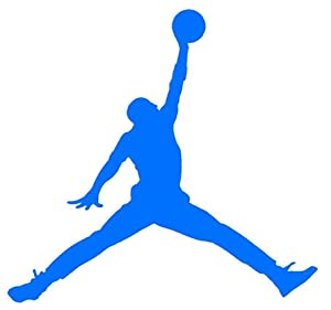 Amazon.com: Air Jordan Nike Jumpman Logo Vinyl Sticker Decal-Blue-4