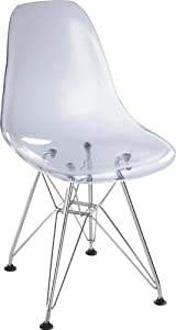 Spire Transparent Chromed Steel Chair