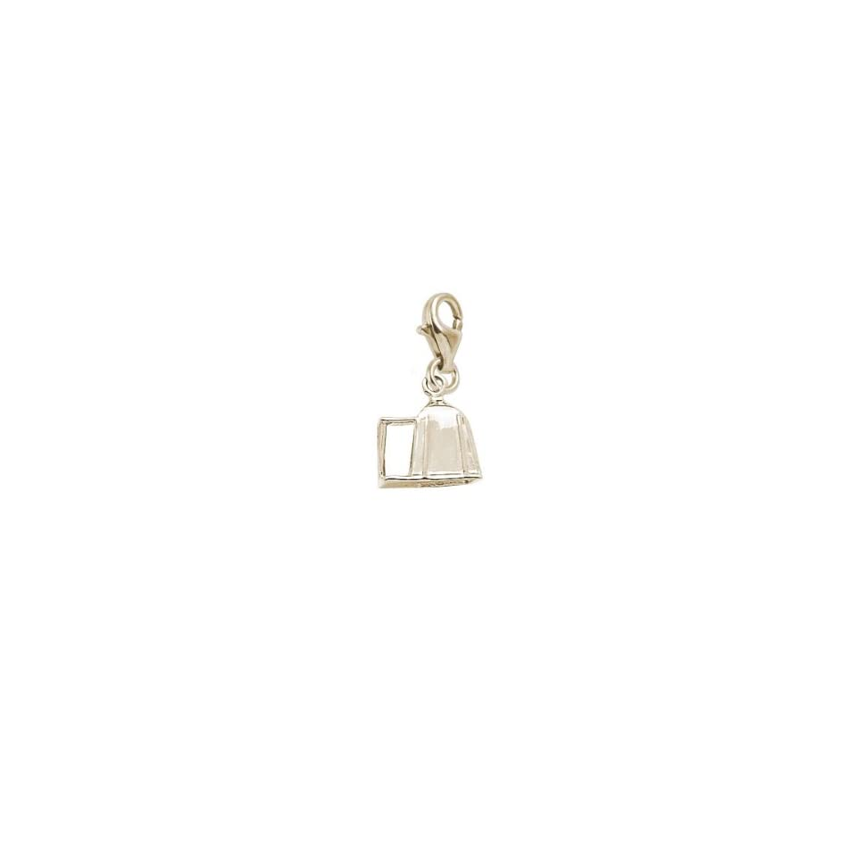 10K Yellow Gold Rembrandt Charms #1 Teacher Charm with Lobster Clasp