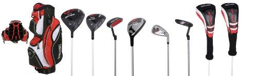 Spalding Herren Golfset SP22, Graphit, Rechtshänder, Schwarz/ Rot/ Weiß