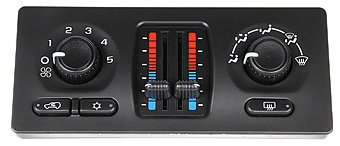 ACDelco 15-73933 GM Original Equipment Heating and Air Conditioning Control Panel with Rear Window Defogger Switch