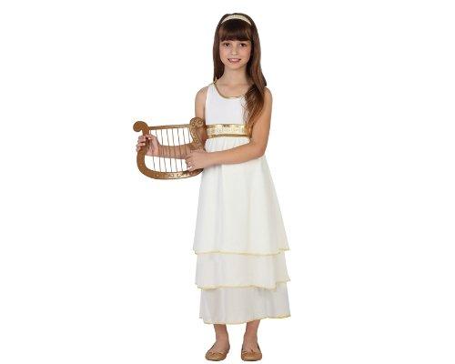 23353 - Römerin Mädchen Kostüm, Größe 140, rot/schwarz