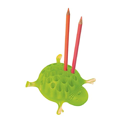Hedgehog Pencil Holder Sebastian by Alessi. Designer Massimo Giacon. Green ColorPen caddy. Unique Designer Gift for Office Colleague, Friend or Kids. (Amazon Vouchers Uk compare prices)
