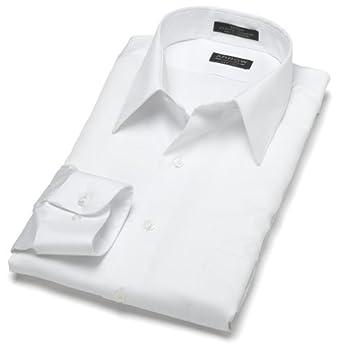 Arrow Men's Wrinkle Free Sateen Solid Long Sleeve, White, 15 - 32/33
