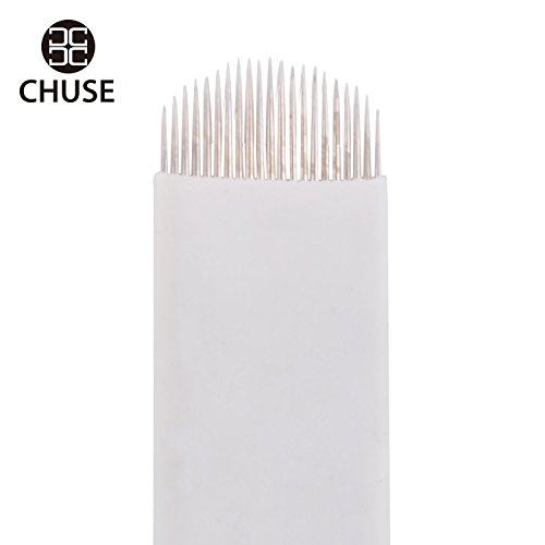 Chuse A21 50pcs Eyebrow Permanent Makeup Needle Embroidery Arc Blade 21 Curved Needles (Arc Blade compare prices)