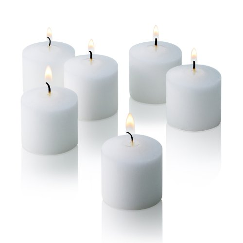 10 Hour White Unscented Votive Candles Set Of 72 Made In Usa