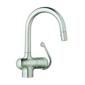 grohe 32256sd0 ladylux pro pull down spray head kitchen