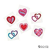 72 Colorful FUN HEART Temporary TATTOOS/VALENTINE'S DAY PARTY FAVORS/6 DOZEN/TEACHER'S…