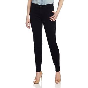 NYDJ Women's Sheri Skinny Jean, Black, 12