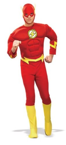 Rubie's Costume Dc Heroes and Villains Collection Deluxe Muscle Chest Flash Costume