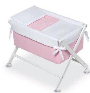 Bimbi Elite–Minicuna, 68x 90x 71cm, colore: bianco/rosa