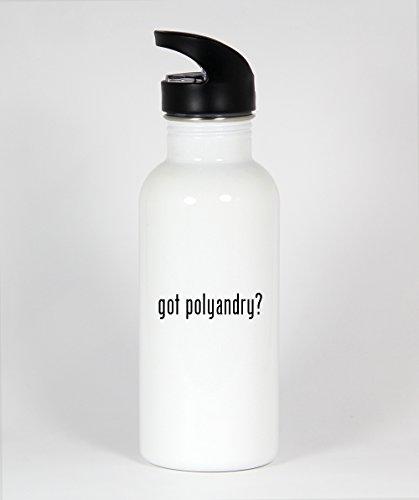 got polyandry? - Funny Humor 20oz White Water Bottle