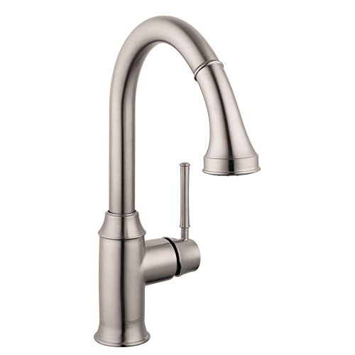 Hansgrohe 04215800 Talis C Higharc Kitchen Faucet, Steel Optik (Talis Kitchen Faucet compare prices)