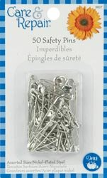 Dritz Safety Pins Assorted Sizes 50/Pkg 9607D; 6 Items/Order