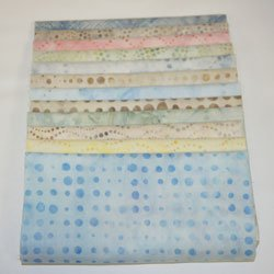 Robert Kaufman Artisan Batiks Dotty Dot Fat Quarters 12 Pieces