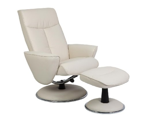 Swivel Recliner With Ottoman front-423841