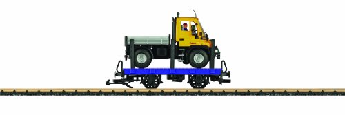 LGB Toy Train Flat with Working Unimog Tractor Load Ready to Run G Scale Car