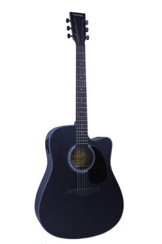 Giannini Guitars Gf-2Sbk C El Preamp Acoustic-Electric Guitar