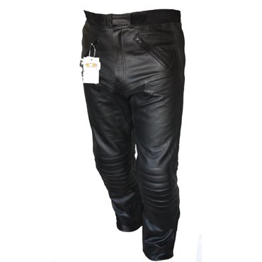 Motorcycle Touring Leather Jeans Trousers CE Armoured (34S)