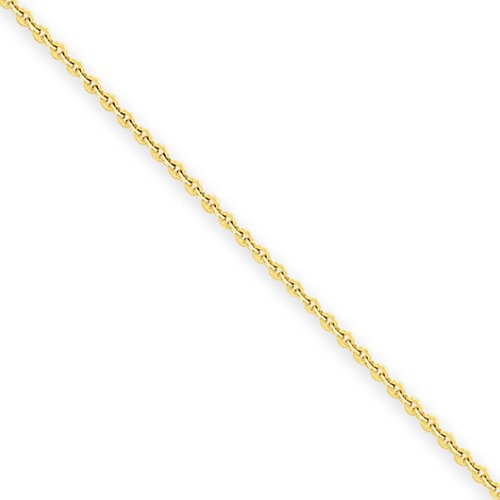 14k Gold 1mm Cable Chain