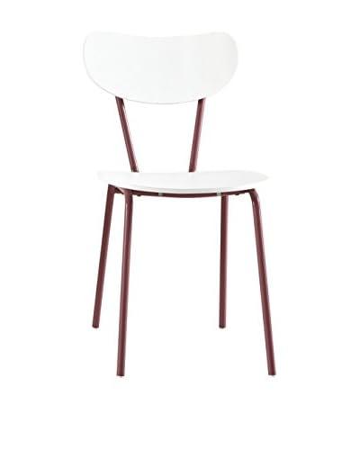 13 Casa Silla Color F4 Blanco/Rojo
