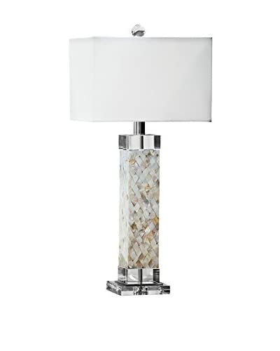 Home Philosophy Diamond Square 1-Light Column Lamp, Mother of Pearl