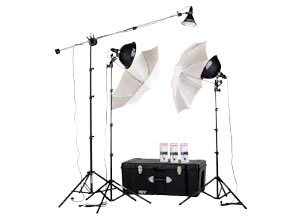 Smith Victor KT900 3-Light 1250-Watt Thrifty Mini-Boom Kit with Light Cart on Wheels Carrying Case discount