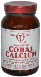 Coral Calcium,1,000 mg, 90 Capsules by Olympian Labs Inc.