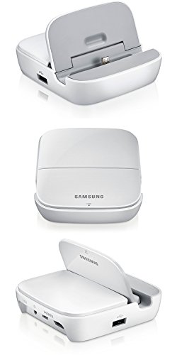 VT-France - Samsung Smart Dock Multimedia Hub HDMI Chargeur Galaxy Note 2/3 S3/4 Mega, Couleur: Blanc, Modele: EDD-S20EWEGSTD