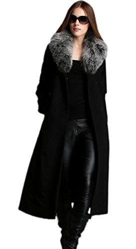 Escalier Donne cachemire cappotto con collo di pelliccia reale