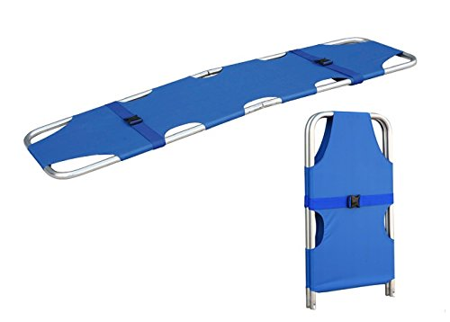 Medical Emergency Folding Portable Stretcher Aluminum Alloy Mobile Sport Camilla