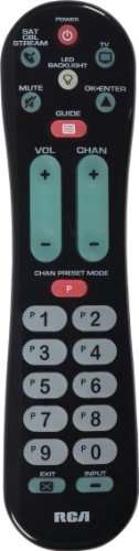RCA RCRPS02GR 2-Device Big Button Remote Control