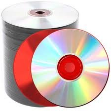 Cd-r 48x Shiny Top Red Base Blank CDR